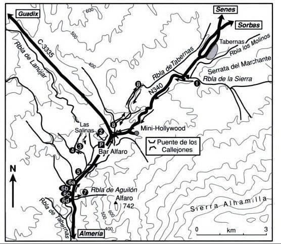 Desert of Tabernas map