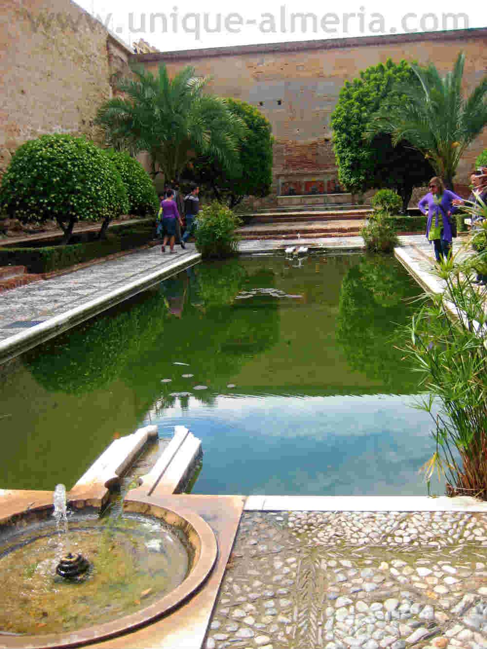 Gardens of the Alcazaba in Almeria, Spain, Muslim Architecture