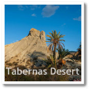 Desert of Tabernas in Almeria, Spain