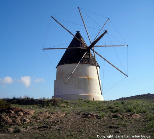 Cabo de Gata: Restored windmill just outside San Jose