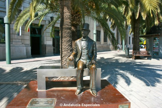Hans Christian Andersen sculpture in Malaga