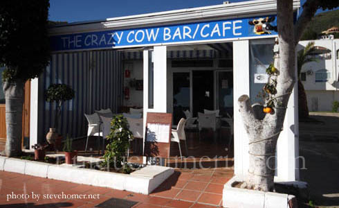 The Crazy Cow Café in Mojacar