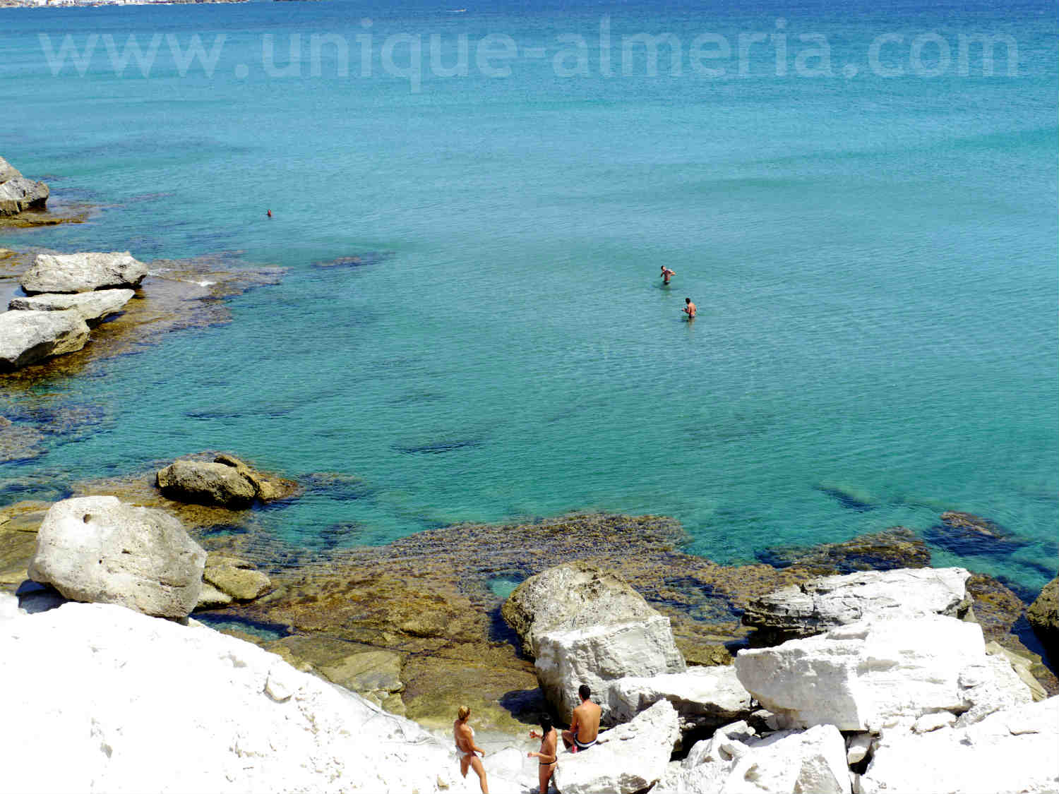 Beach landscape at Playa Embarcadero, Cabo de Gata Natural Park (Almeria, Spain)