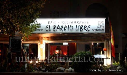 El Barrio Libre Mojacar Restaurant Playa