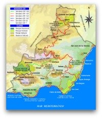 Hiking Trails in Almeria, click to open big file!