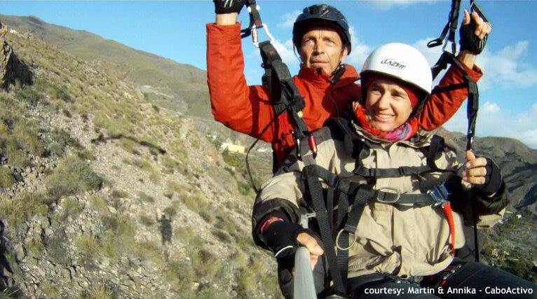 Paragliding Vacations in Spain with Cabo Activo