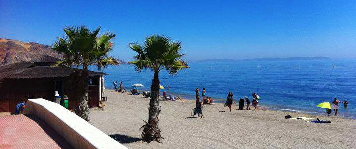 Beach in Aguadulce (Almeria, Spain)