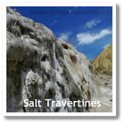 Salt Travertines in the Desert of Tabernas (Almeria, Spain)